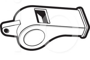whistle clipart black and white 5