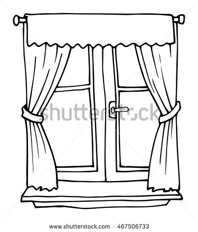 Window Pane Coloring Page