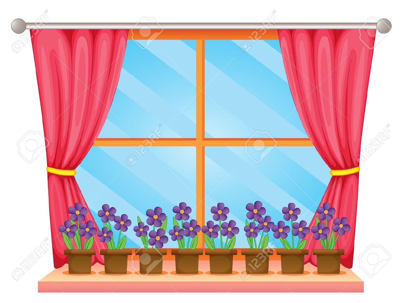 window with curtains clipart 5 | Clipart Station for Window With Curtains Clipart  51ane