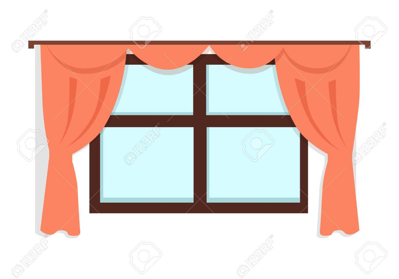 Window with Red Curtains | Clipart Station for Window With Curtains Clipart  199fiz