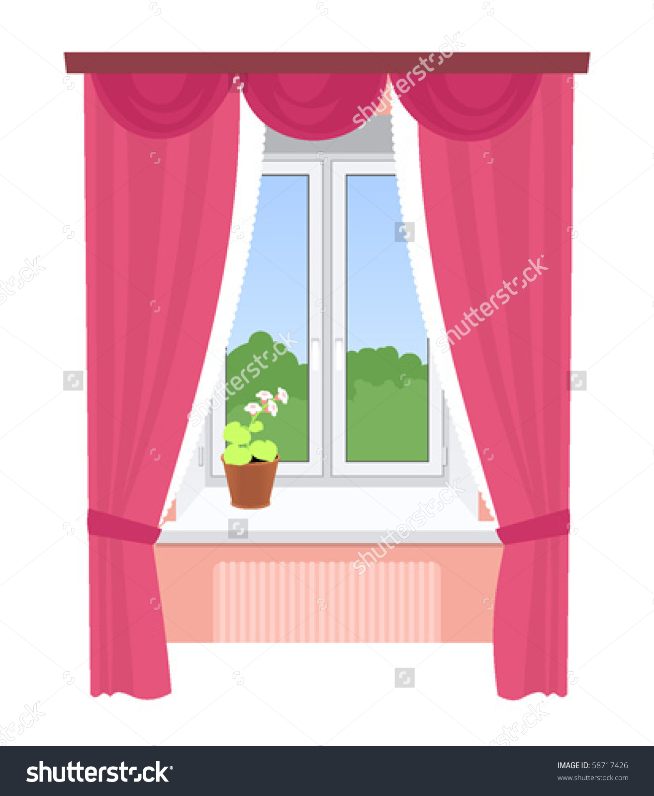 Kitchen Window Clip Art: Window With Curtains Clipart 9 » Clipart Station