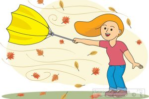 Windy Cool Weather Clipart