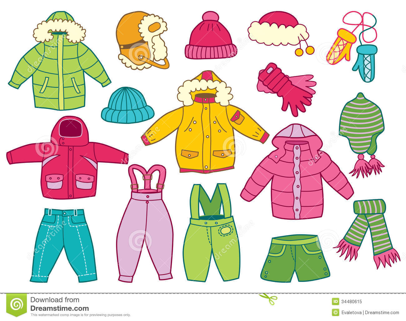 Winter Season Clothes Clipart 1 Clipart Station
