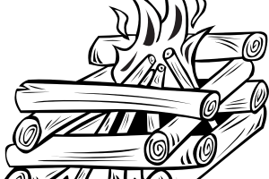wood clipart black and white 3