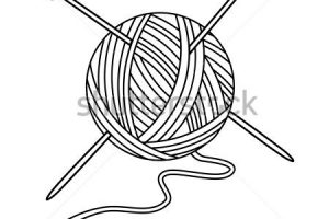 wool clipart black and white 3