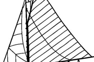 yacht clipart black and white_1