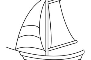 yacht clipart black and white_2