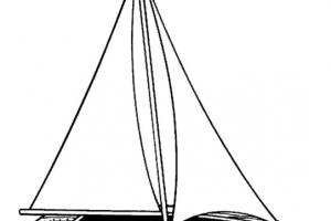 yacht clipart black and white_3