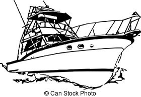 yacht clipart black and white_5