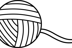 yarn clipart black and white_1