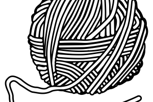 yarn clipart black and white_3