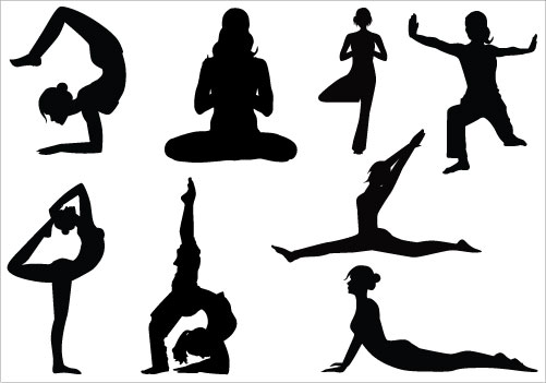 Yoga clipart black and white_3 » Clipart Station