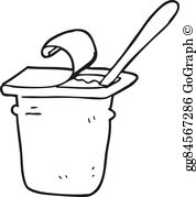 yogurt clipart black and white_10