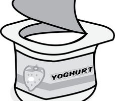 yogurt clipart black and white_11