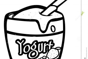 yogurt clipart black and white_4