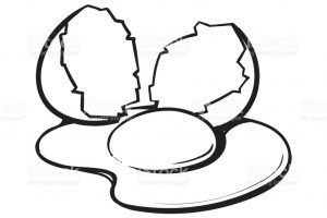 yolk clipart black and white_5