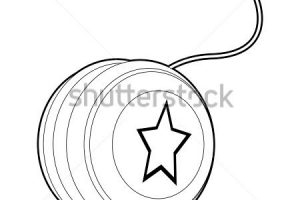 yoyo clipart black and white