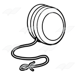 yoyo clipart black and white_1