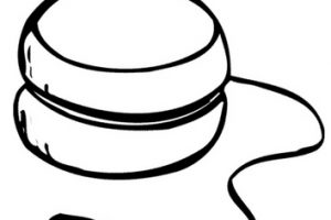 yoyo clipart black and white_2