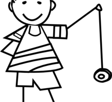 yoyo clipart black and white_3
