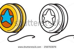 yoyo clipart black and white_4