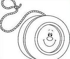 yoyo clipart black and white_5