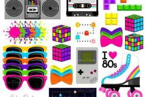 1980s clipart 8
