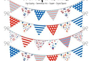 4th of july banner clipart 2