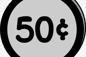 50 cents clipart 1