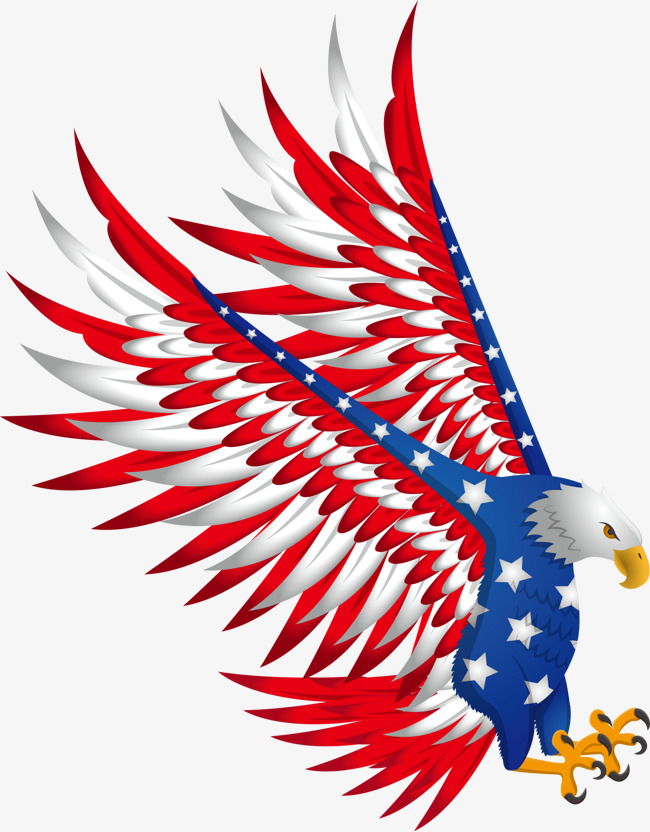American flag eagle. Clipart station