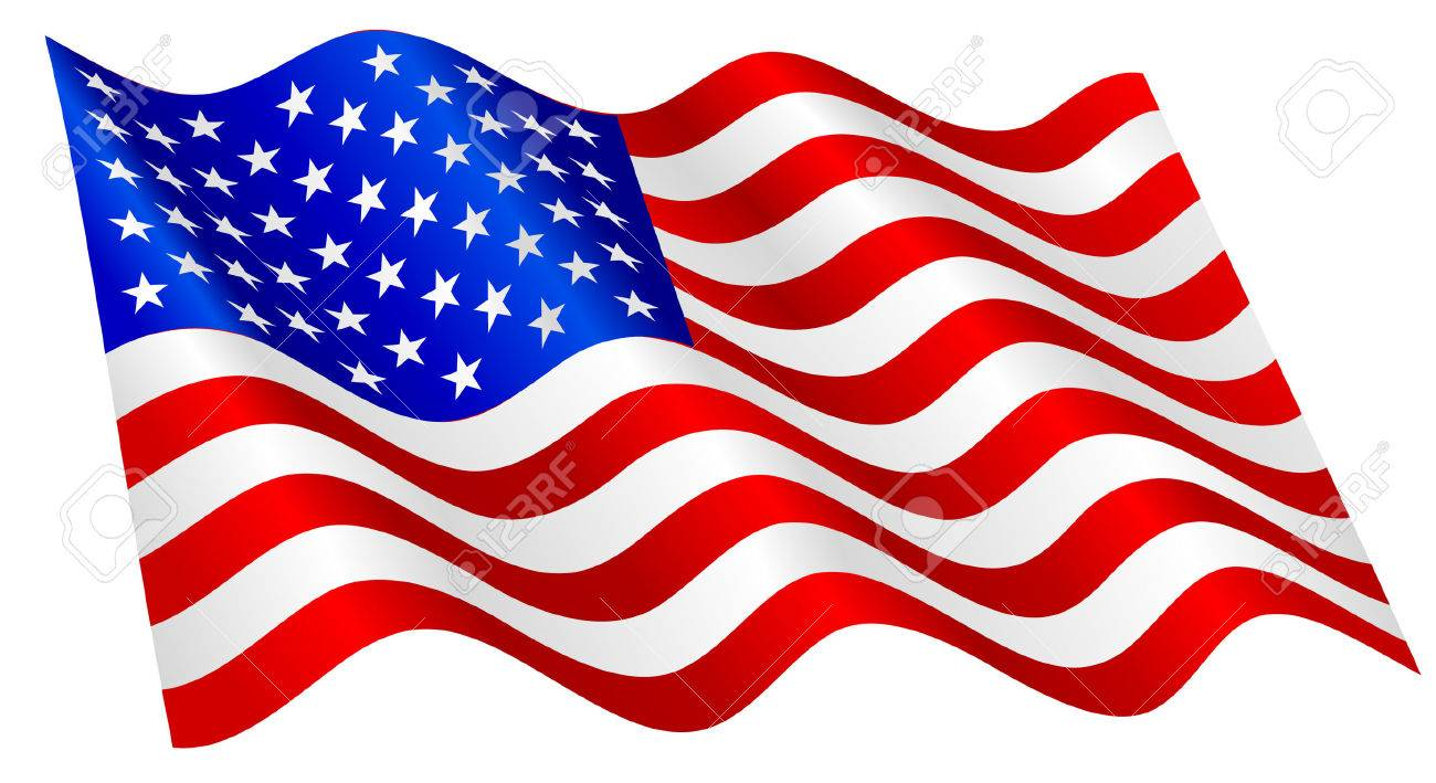 Flag waving. American clipart station