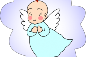 angel baby clipart 1