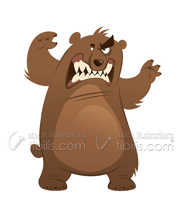 Bear angry. Clipart station