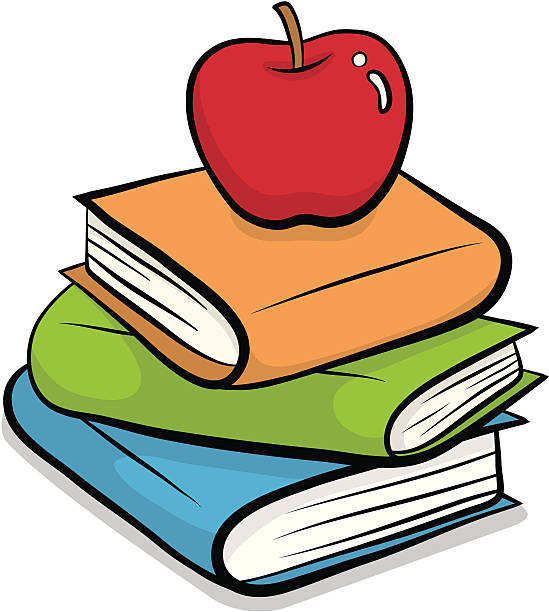 Image result for apple on books clipart
