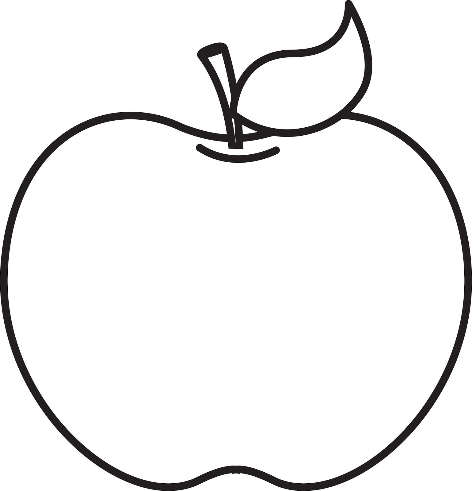 Apple black and white. Clipart best of