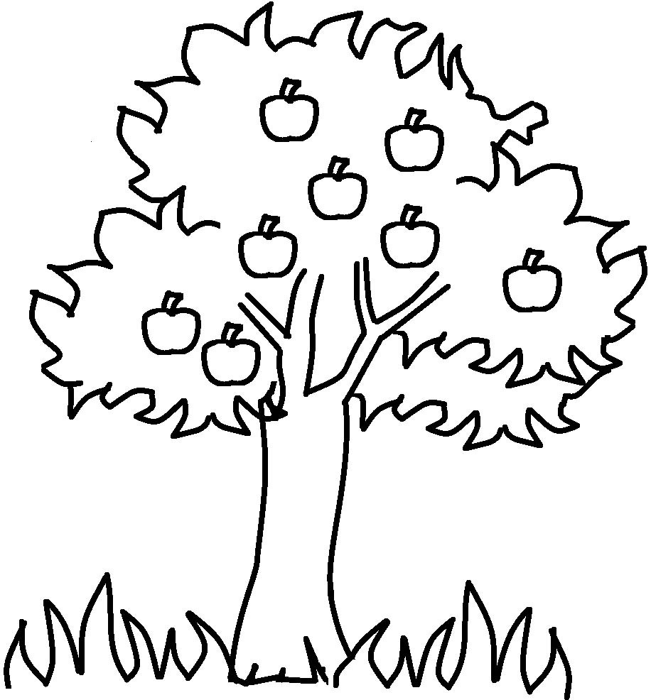 Apple Tree Clipart Black And White Clipart Station