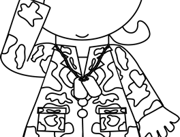 army clipart black and white 1