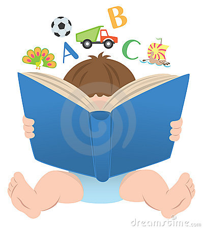 Books baby. Book clipart station