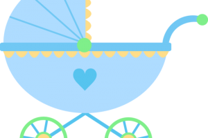 baby boy carriage clipart 1