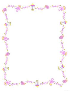 Baby Shower Border Clipart Clipart Station