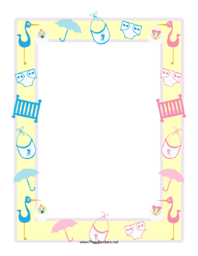 Baby Shower Clipart Borders 1 Clipart Station