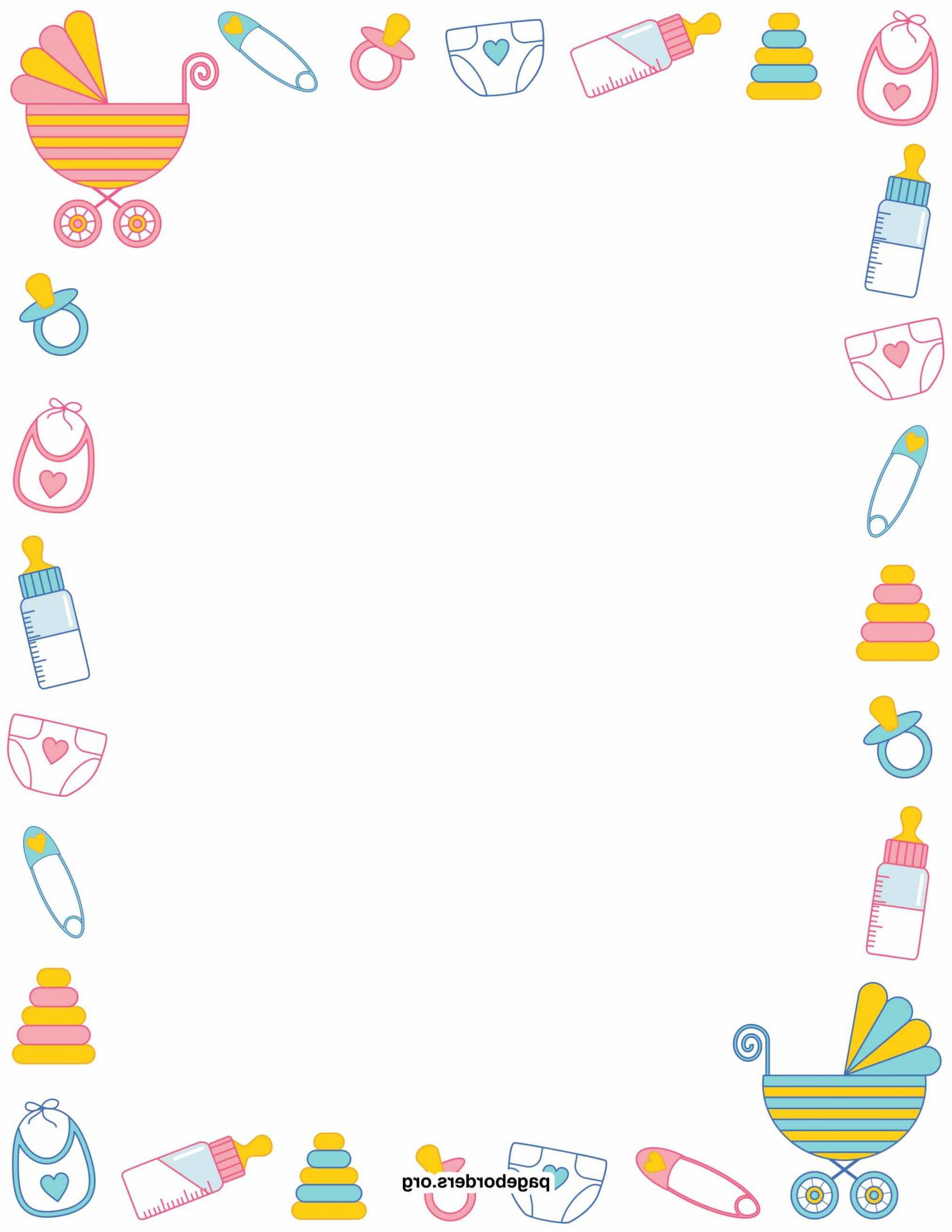 Baby Shower Clipart Borders 2 Clipart Station