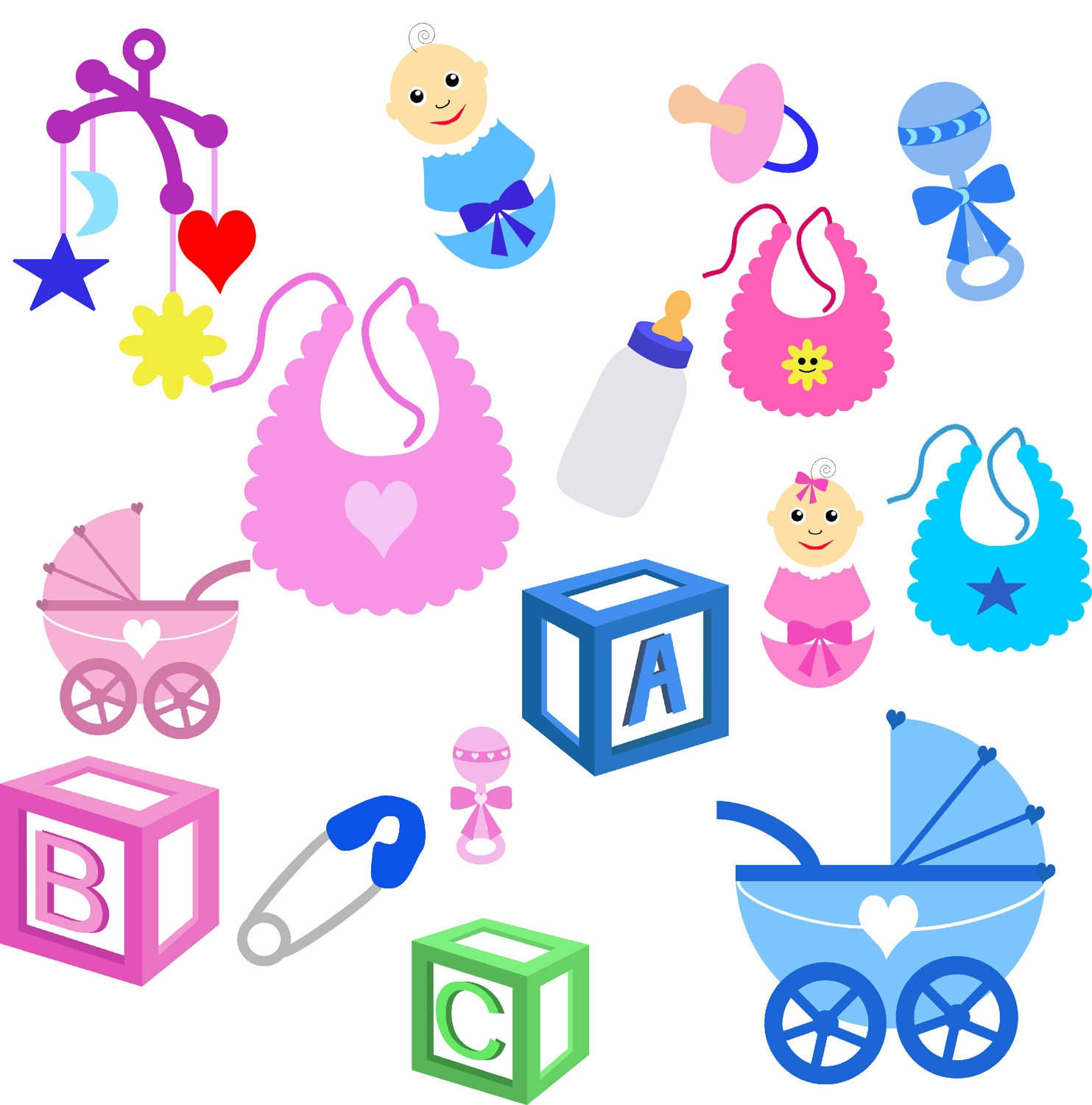 Baby stuff. Clipart station