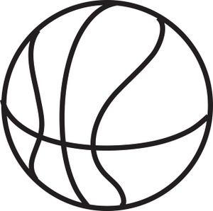 Basketball black. And white clipart station