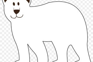 bear black and white clipart 3