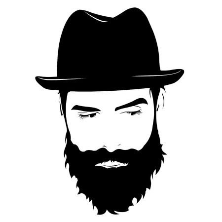 Bearded man. Clipart station