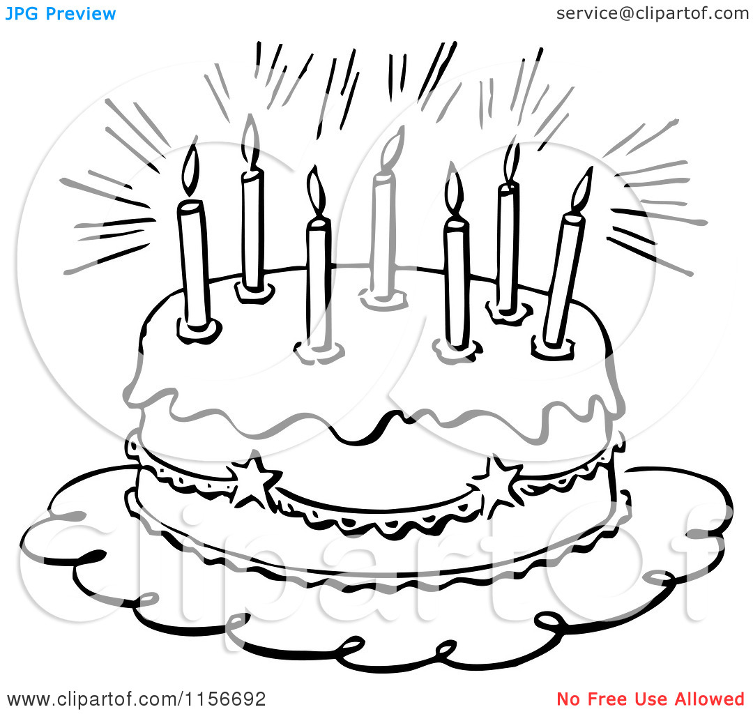 Ideas About Black And White Birthday Cake Clip Art