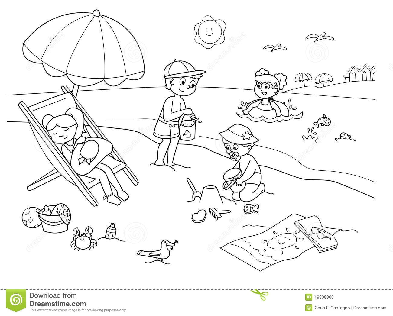 beach-coloring-pages.gif (800×591)   Free clip art, Clip art, Beach  coloring pages