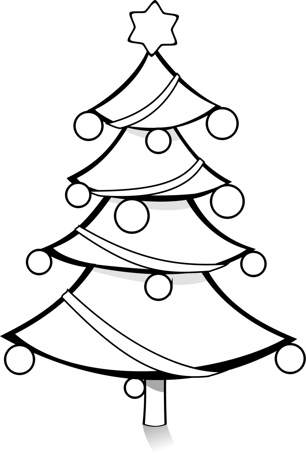 Christmas Tree Clipart Outline.Black And White Christmas Tree Clipart 6 Clipart Station