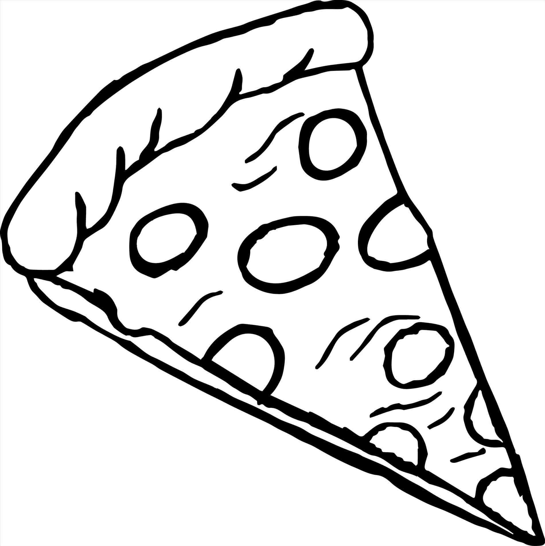 Pizza Slice Of Pizza Clipart Black And White » Clipart Station